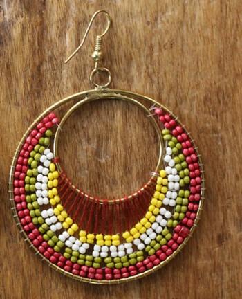 Tienda Elena - boucles-acapulco-2 - bijou ethnique - navajo - perles de rocaille