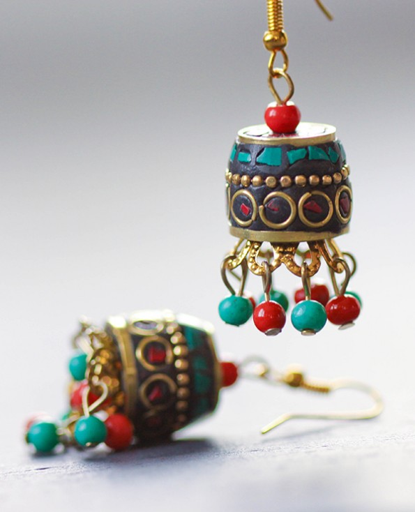 Tienda Elena - boucles campeche 1 - bijou ethnique - navajo - perles naturelles
