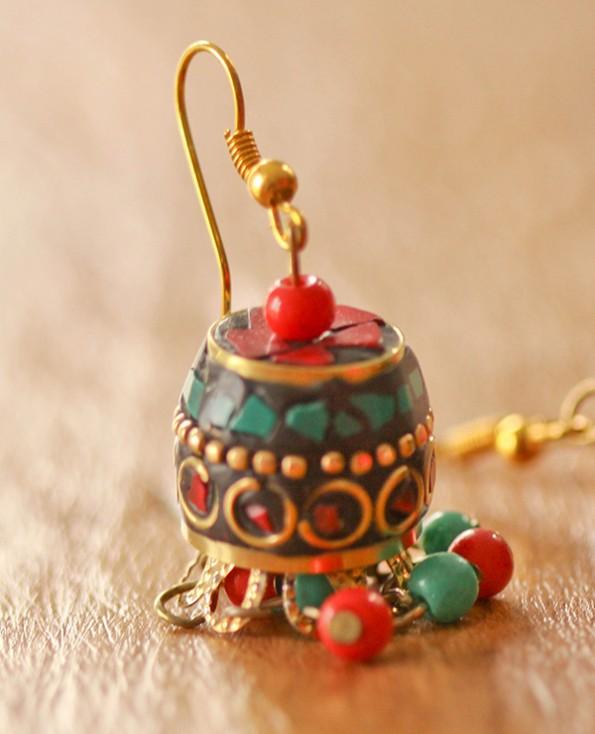 Tienda Elena - boucles-campeche-2 - bijou ethnique - navajo - perles naturelles