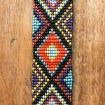 manchette yucatan - 2 - Tienda Elena - perles de rocaille - multicolore et doré - bijou ethnique - bohème chic - navajo