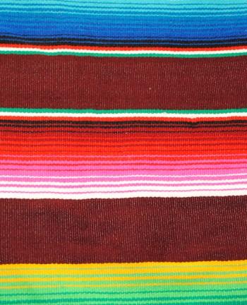 Tienda Elena - Sarape bordeaux - Décoration et artisanat mexicain - Fait main - Hecho en Mexico