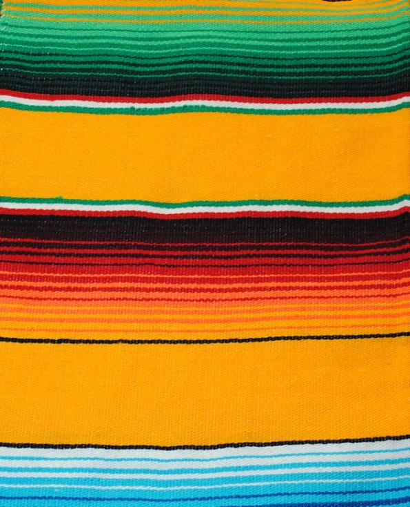 Tienda Elena - Sarape jaune - Décoration et artisanat mexicain - Fait main - Hecho en Mexico - 2