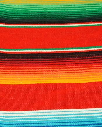 Tienda Elena - sarape rouge - Décoration et artisanat mexicain - Fait main - Hecho en Mexico - 2