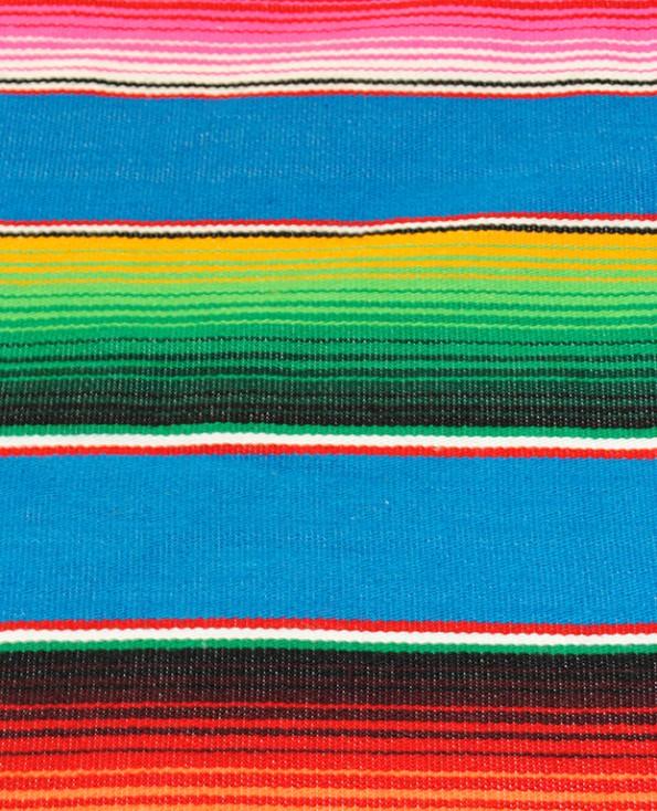 Tienda Elena - Sarape turquoise - Décoration et artisanat mexicain - Fait main - Hecho en Mexico