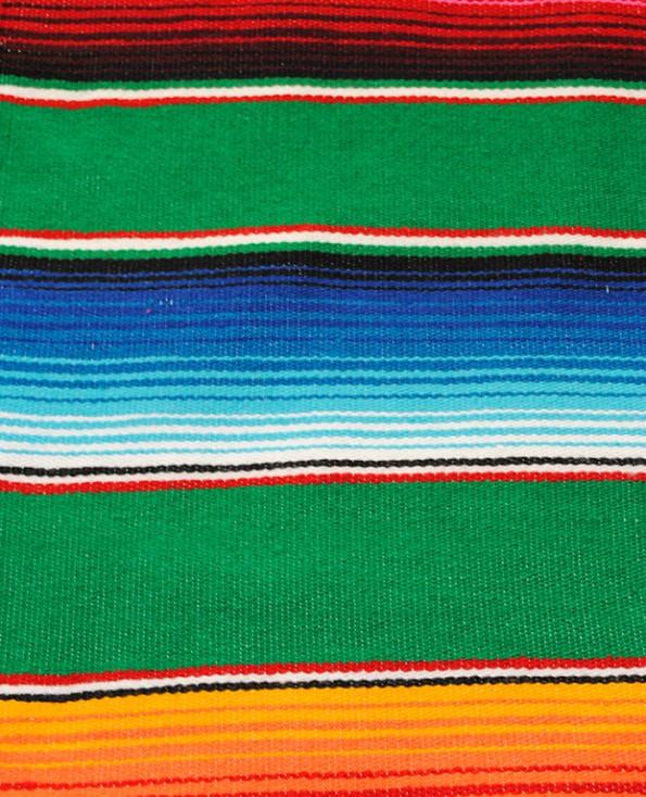 Tienda Elena - Sarape vert - couleur principale vert - Décoration et artisanat mexicain - Fait main - Hecho en Mexico - 1