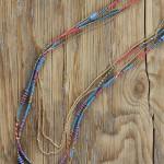 sautoir quintana 1 - Tienda Elena - perles de rocaille - bleu et doré - bijou ethnique - bohème chic - indian spirit