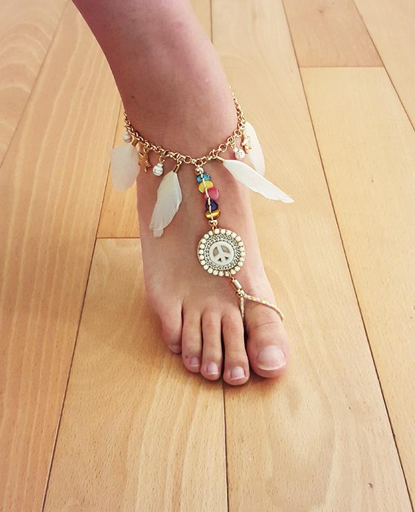 Tienda Elena - Mode et inspiration mexicaine - bijou pied bohème - 1 - bohème chic - bijoux ethniques