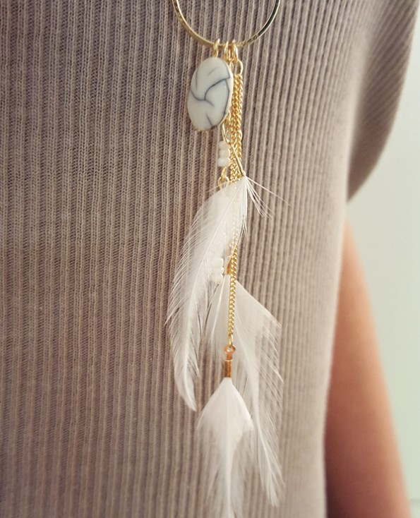 Tienda Elena - Sautoir minimaliste - 1 - bohème chic - bijoux ethniques