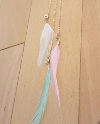 Tienda Elena - Sautoir plumes - 1 - bohème chic - bijoux ethniques