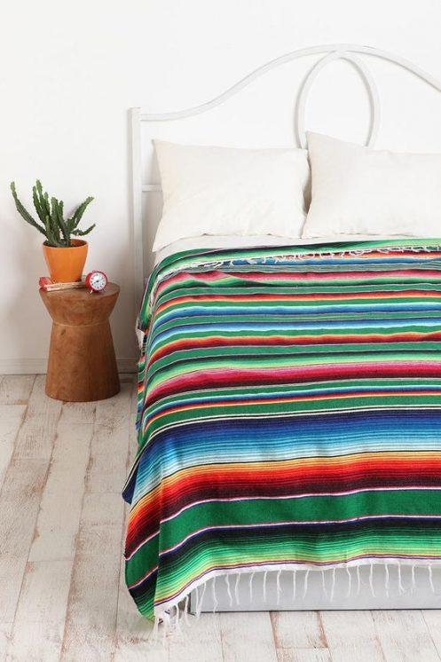 Tienda Elena - Mode et inspiration mexicaine - déco colorée - sarape mexicain - sarape vert - hecho en mexico - mexique - blog - 2