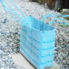 Tienda Elena - grand cabas bleu ciel - ethnique -hecho en mexico - fait main - accessoires - 2