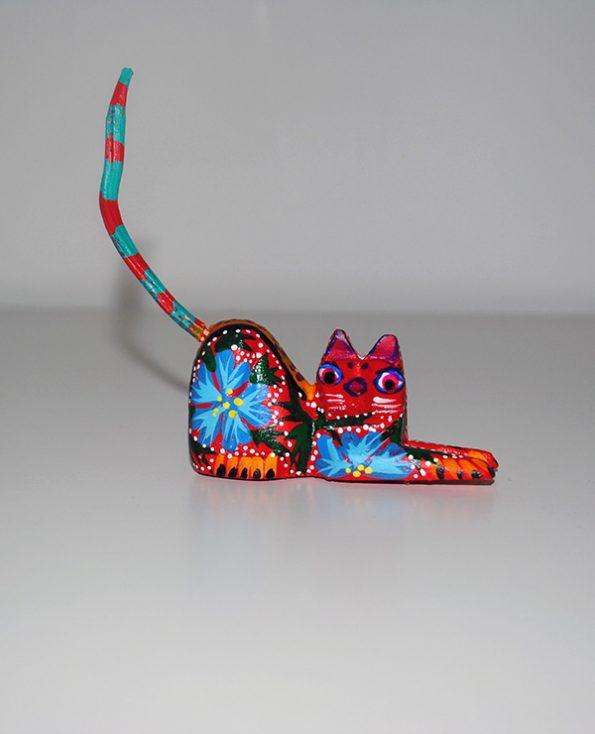 Tienda Elena - Mini Alebrijes chat - Fait main - hecho en mexico - colorés - Mexique - 1