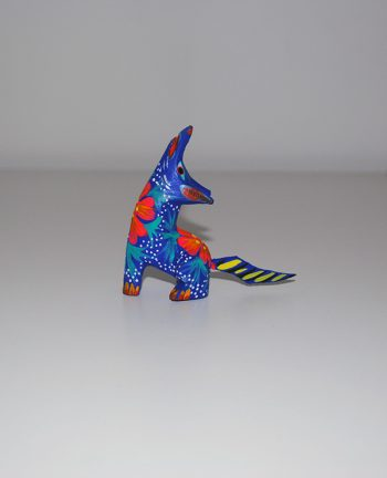 Tienda Elena - Mini figurine bois Coyote - Mini Alebrijes coyote - Fait main - hecho en mexico - colorés - Mexique - 1
