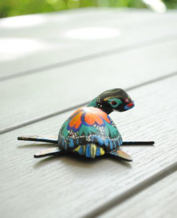 Tienda Elena - Mini figurine bois Tortue - Mini Alebrijes tortue - Fait main - hecho en mexico - colorés - Mexique - 2