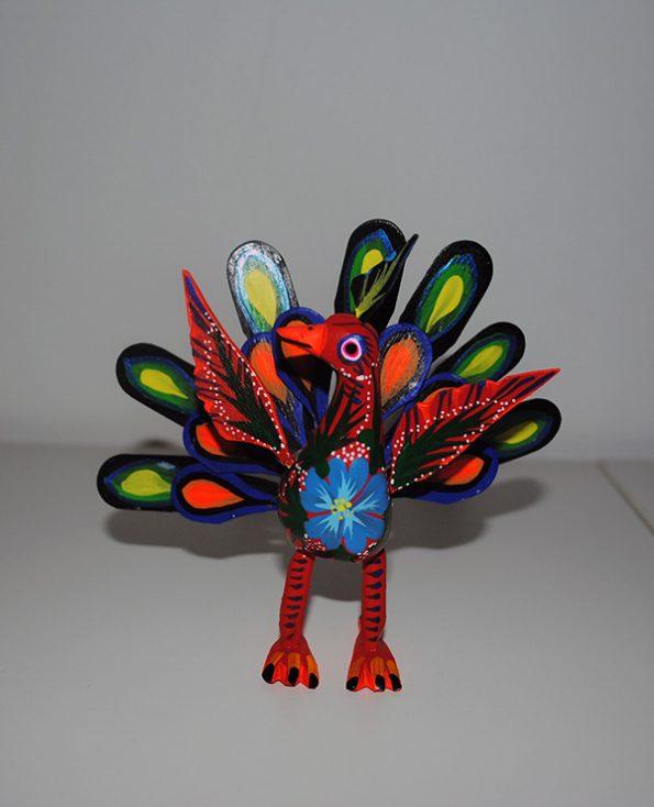 Tienda Elena - Figurine bois Paon - Alebrijes paon - Fait main - hecho en mexico - colorés - Mexique - 5