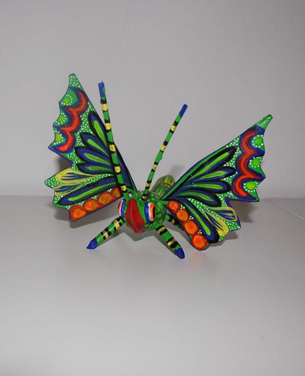 Tienda Elena - Figurine bois Papillon - Alebrijes papillon - Fait main - hecho en mexico - colorés - Mexique - 1