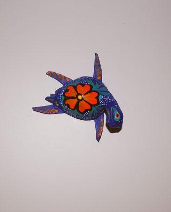 Tienda Elena - Mini Alebrijes tortue - Fait main - hecho en mexico - colorés - Mexique - 4