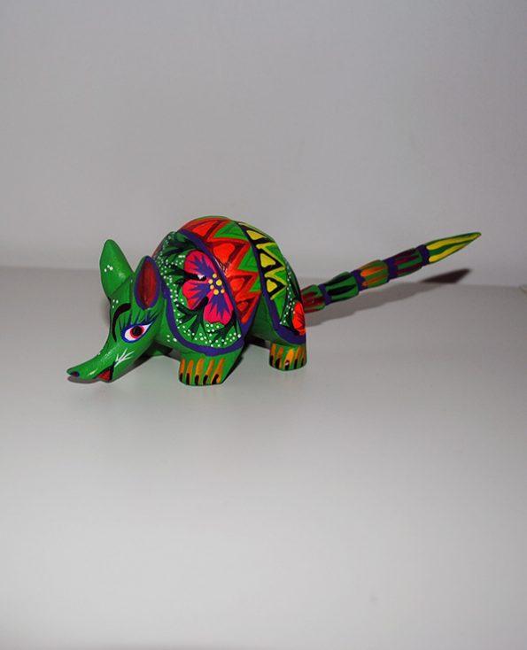 Tienda Elena - Figurine bois Tatou - Alebrijes tatou - Fait main - hecho en mexico - colorés - Mexique - 2