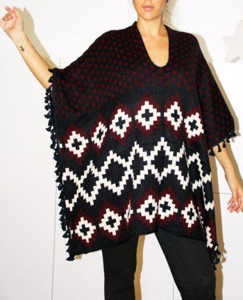 Tienda Elena - Mode et inspiration mexicaine - poncho losanges - 1 - mode bohème chic - ethnique