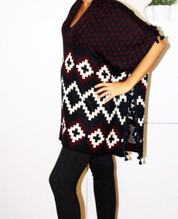 Tienda Elena - Mode et inspiration mexicaine - poncho losanges - 2 - mode bohème chic - ethnique