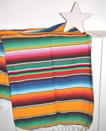 Tienda Elena - Sarape jaune - Décoration et artisanat mexicain - Fait main - Hecho en Mexico - 1