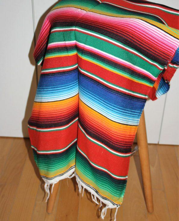 Tienda Elena - Sarape rouge - Décoration et artisanat mexicain - Fait main - Hecho en Mexico - 1