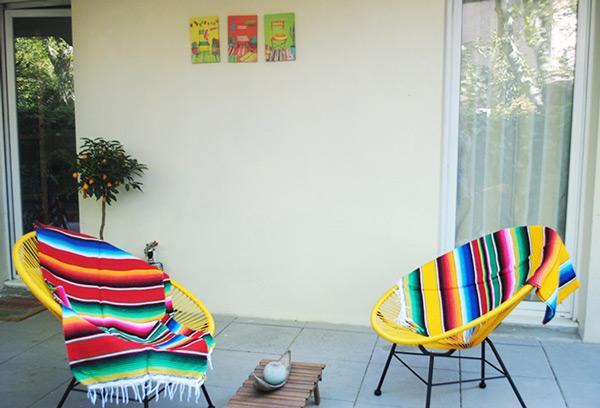 Terrasse esprit bohème - Tienda Elena - Mode et inspiration mexicaine - blog