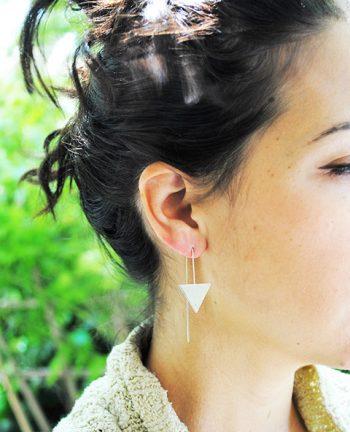 Boucles triangle argenté - Tienda Elena - Mode et inspiration mexicaine - 3