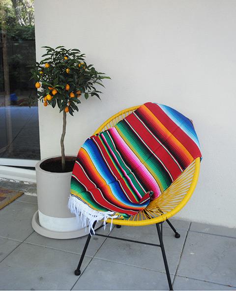 Tienda Elena - Sarape rouge mexicain- Décoration et artisanat mexicain - Fait main - Hecho en Mexico - 3