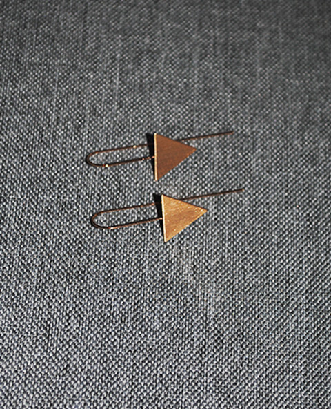 Boucles triangle doré - Tienda Elena - Mode et inspiration mexicaine - 2