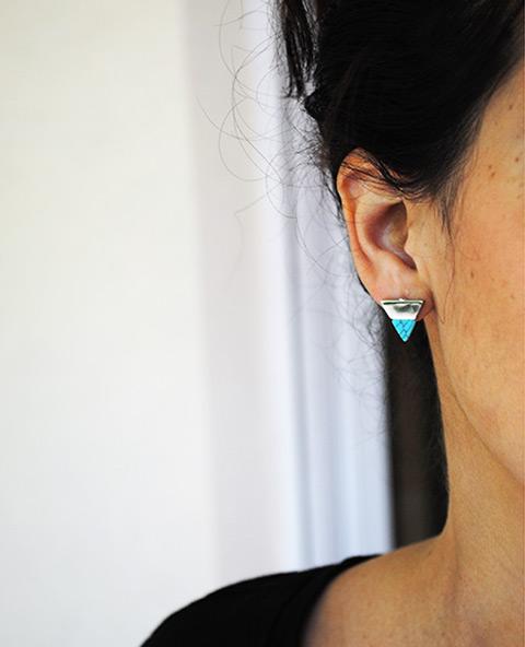 Bijoux géométriques - Bijoux d'oreilles - Tienda Elena - Mode et inspiration mexicaine - 1