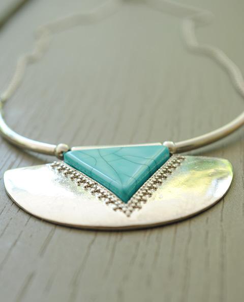 Collier pierre turquoise - Tienda Elena - Mode et inspiration mexicaine - Nouveau