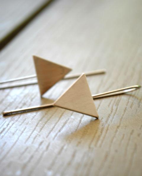 Boucles triangle argenté - Tienda Elena - Mode et inspiration mexicaine - nouveau