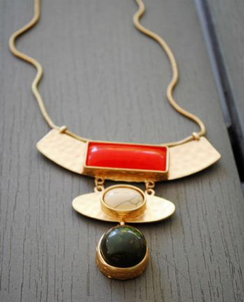 Collier pierre rouge - Tienda Elena - Mode et inspiration mexicaine - Nouveau