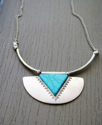Collier pierre turquoise - Tienda Elena - Mode et inspiration mexicaine - Nouveau - 2