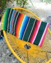 Tienda Elena - Sarape émeraude - Décoration et artisanat mexicain - Fait main - Hecho en Mexico - 1