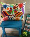 Housse xalapa - Tienda Elena - 1 - Housse Otomi brodée - fait main - colorée - Hecho en Mexico - artisanat et créateurs mexicains - Mexique - décoration intérieure