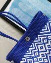Tienda Elena - Mode et inspiration mexicaine - décoration et artisanat mexicain - fait main - hecho en Mexico - sac - cabas ethnique chic - cabas bleu et blanc - ethnique chic - tendance bohème chic - 1