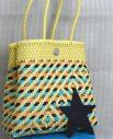 Tienda Elena - Mode et inspiration mexicaine - décoration et artisanat mexicain - fait main - hecho en Mexico - sac - cabas ethnique chic - cabas écru bleu rose - ethnique chic - tendance bohème chic - 2