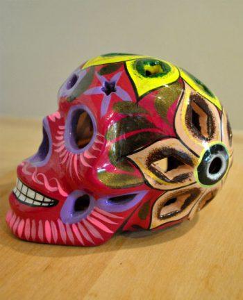 Tienda Elena - Calavera fushia - Décoration et artisanat mexicain - Fait main - hecho en Mexico - 1