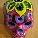 Tienda Elena - Calavera fushia - Décoration et artisanat mexicain - Fait main - hecho en Mexico