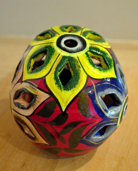 Tienda Elena - Calavera fushia - Décoration et artisanat mexicain - Fait main - hecho en Mexico - 3