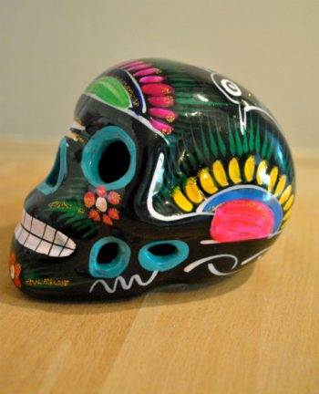 Tienda Elena - Calavera noire - Décoration et artisanat mexicain - Fait main - hecho en Mexico - 1