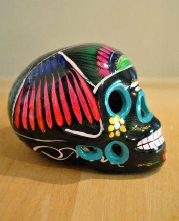 Tienda Elena - Calavera noire - Décoration et artisanat mexicain - Fait main - hecho en Mexico - 2