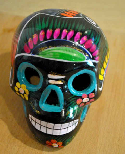 Tienda Elena - Calavera noire - Décoration et artisanat mexicain - Fait main - hecho en Mexico