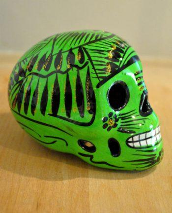 Tienda Elena - Calavera verte - Décoration et artisanat mexicain - Fait main - hecho en Mexico - 1
