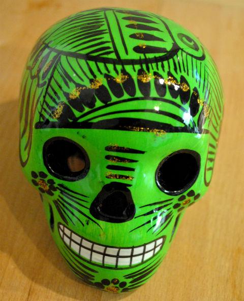 Tienda Elena - Calavera verte - Décoration et artisanat mexicain - Fait main - hecho en Mexico