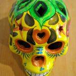 Tienda Elena - Calavera jaune - Décoration et artisanat mexicain - Fait main - hecho en Mexico