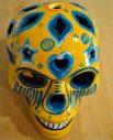 Tienda Elena - Calavera jaune et bleue - Décoration et artisanat mexicain - Fait main - hecho en Mexico