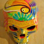 Tienda Elena - Calavera paon jaune - Décoration et artisanat mexicain - Fait main - hecho en Mexico